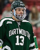 Brett Patterson (Dartmouth - 13) - The Harvard University Crimson defeated the Dartmouth College Big Green 5-2 to sweep their weekend series on Sunday, November 1, 2015, at Bright-Landry Hockey Center in Boston, Massachusetts. -
