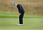 VALENTINE, NE - OCTOBER 2: Andrew McCormick from Creighton University rolls his putt to the cup on the first hole during the SDSU Invite Monday at The Prairie Club in Valentine, NE. (Photo by Dave Eggen/Inertia)