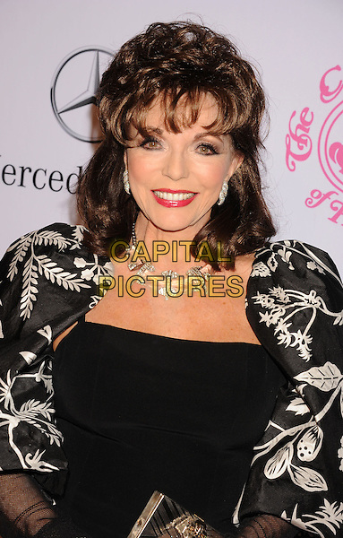 Joan Collins.The 26th Anniversary Carousel Of Hope Ball presented by Mercedes-Benz at The Beverly Hilton Hotel in Beverly Hills, California, USA..October 20th, 2012.portrait headshot black white print necklace silver red lipstick .CAP/ROT/TM.©Tony Michaels/Roth Stock/Capital Pictures