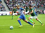 10.09.2017, OLympiastadion, Berlin, GER, 1.FBL, Hertha BSC VS. SV Werder Bremen, im Bild <br /> Alexander Esswein (Hertha BSC Berlin #7), Delaney (Werder Bremen)<br /> <br /> <br />       <br /> Foto &copy; nordphoto / Engler