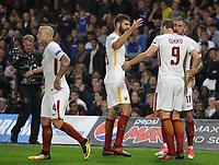 Esultanza Roma Celebration<br /> Londra 18-10-2017 Stamford Bridge Football Champions League 2017/2018 Chelsea - Roma <br /> Foto Gino Mancini / Insidefoto