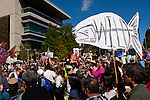 The Get Out The Migration Rally in Victoria, British Colombia, Canada, May 8, 2010.  Photo by Gus Curtis.