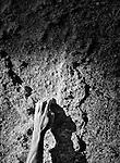 Jason Craig bouldering on donner summit at sunrise - photo Scott Sady