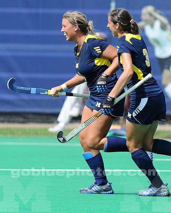 The University of Michigan women's field hockey team beat Delaware, 4-1, at Ocker Field in Ann Arbor, Mich., on September 1, 2012.