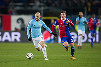 Manchester City's David Silva in action <br /> <br /> Photographer Craig Mercer/CameraSport<br /> <br /> UEFA Champions League Round of 16 First Leg - Basel v Manchester City - Tuesday 13th February 2018 - St Jakob-Park - Basel<br />  <br /> World Copyright &copy; 2018 CameraSport. All rights reserved. 43 Linden Ave. Countesthorpe. Leicester. England. LE8 5PG - Tel: +44 (0) 116 277 4147 - admin@camerasport.com - www.camerasport.com