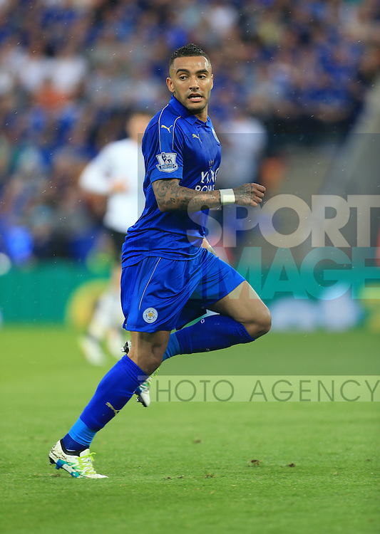 Leicester's Danny Simpson in action during the Barclays Premier League match at the King Power Stadium.  Photo credit should read: David Klein/Sportimage