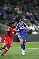 Josh Wolff (left) against Adrian Serioux (left). Toronto FC defeated Kansas City Wizards 3-2 at Community America Ballpark, Kansas City, Kansas. March 21, 2009.