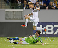 CARSON, CA - November 11, 2012: LA Galaxy midfielder Christian Wilhelmsson (9) during the LA Galaxy vs the Seattle Sounders at the Home Depot Center in Carson, California. Final score LA Galaxy 3, Seattle Sounders 0.