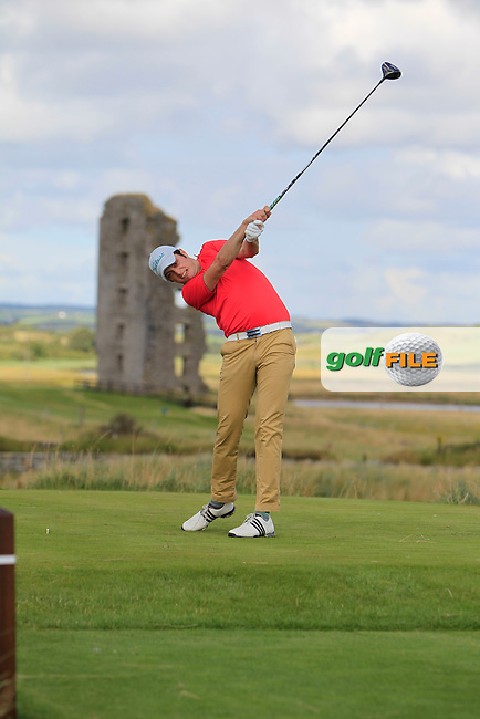 Shane McGlynn (Carton House) on the 13th tee during the South of Ireland Amateur Open Championship 4th Round at Lahinch Golf Club  29th July 2013 <br />