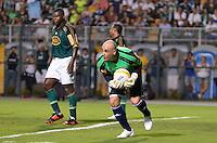 ATENÇÃO EDITOR: FOTO EMBARGADA PARA VEÍCULOS INTERNACIONAIS - SÃO PAULO, SP, 11 DE DEZEMBRO DE 2012 - JOGO DE DESPEDIDA DO GOLEIRO MARCOS - Marcos durante partida de despedida do goleiro Marcos, entre o time do Palmeiras de 1999 Campeão da Libertadores contra a Seleção Brasileira de 2002 Campeã do Mundo. A partida foi disputada na noite desta terça feira (11) no Estádio do Pacaembu em São Paulo. FOTO: LEVI BIANCO - BRAZIL PHOTO PRESS