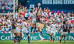Hong Kong play United States in the Bowl Semi-Final on Day 3 of the Cathay Pacific / HSBC Hong Kong Sevens 2013 on 24 March 2013 at Hong Kong Stadium, Hong Kong. Photo by Manuel Queimadelos / The Power of Sport Images