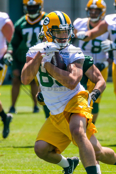 Green Bay Packers wide receiver Jeff Janis (83) during an OTA on June 1, 2017 at Clark Hinkle Field in Green Bay, Wisconsin. (Brad Krause/Krause Sports Photography)
