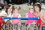 Caroline, Katlyn Kissane and Ella and Gillian Warren Killarney on the see-saw at the Mad Pride family fun day in Knockreer, Killarney on Saturday