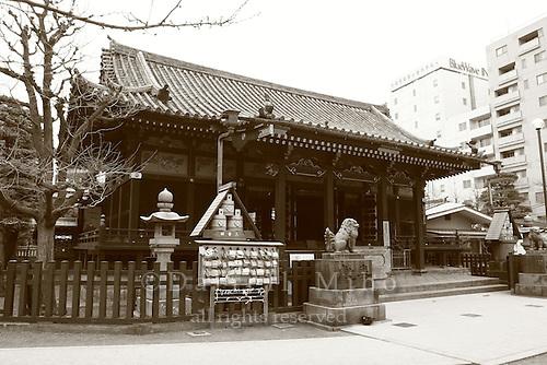 Mar 6, 2006; Tokyo, JPN; Asakusa.Asakusa-jinja next to the Senso-ji temple (not pictured)..Photo credit:  Darrell Miho