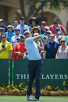 Brendan Steele (USA) watches his tee shot on 1 during round 1 of The Players Championship, TPC Sawgrass, at Ponte Vedra, Florida, USA. 5/10/2018.<br /> Picture: Golffile | Ken Murray<br /> <br /> <br /> All photo usage must carry mandatory copyright credit (&copy; Golffile | Ken Murray)