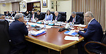 Palestinian Prime Minister, Rami Hamdallah, chairs a meeting of council ministers, in the West Bank city of Ramallah, on July 18, 2017. Photo by Prime Minister Office