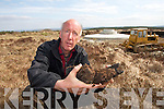 RIGHTS: Joe Harrington protesting for turf rights at Banemore Bog on Wednesday morning.   Copyright Kerry's Eye 2008