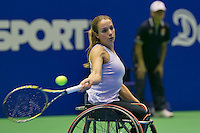 22-12-13,Netherlands, Rotterdam,  Topsportcentrum, Tennis Masters, , , Wheelchair final, Jiske Griffioen(NED)   <br /> Photo: Henk Koster