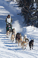 Ray Redington Jr. on Long Lake at the Re-Start of the 2012 Iditarod Sled Dog Race