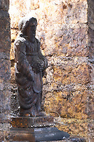 saint vincent statue in cellar domaine guyot marsannay cote de nuits burgundy france