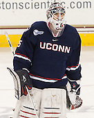 Steve Thulin (UConn - 35) - The Boston College Eagles defeated the visiting University of Connecticut Huskies 3-2 on Saturday, January 24, 2015, at Kelley Rink in Conte Forum in Chestnut Hill, Massachusetts.