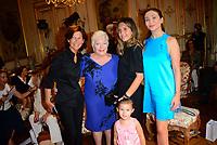 Bernard Depoorter Couture Fashion show A/H 2017-2018<br /> Sylvie Rousseau, Line Renaud, Constance Ayache, Isabella Orsini, Princesse de Ligne de La Tremoille