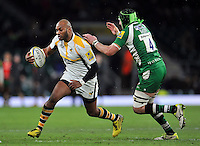 Sailosi Tagicakibau of Wasps in possession. Aviva Premiership match, between London Irish and Wasps on November 28, 2015 at Twickenham Stadium in London, England. Photo by: Patrick Khachfe / JMP