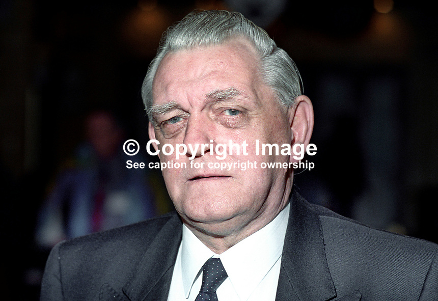 Dan Duffy, Transport &amp; General Workers' Union, and member, NEC, Labour Party, UK, 199409037.<br /> <br /> Copyright Image from Victor Patterson,<br /> 54 Dorchester Park, <br /> Belfast, UK, BT9 6RJ<br /> <br /> t1: +44 28 9066 1296 (from Rep of Ireland 048 90661296)<br /> t2: +44 28 9002 2446 (from Rep of Ireland 048 9002 2446)<br /> <br /> m: +44 7802 353836<br /> <br /> e: victorpatterson@me.com<br /> www.victorpatterson.com<br /> <br /> Please see my Terms and Conditions of Use at www.victorpatterson.com. It is IMPORTANT that you familiarise yourself with them.<br /> <br /> Images used on the Internet must be visibly watermarked i.e. &copy; Victor Patterson<br /> within the body of the image and copyright metadata must not be deleted. Images <br /> used on the Internet have a size restriction of 4kbs and will be chargeable at current<br />  NUJ rates unless agreed otherwise.<br /> <br /> This image is only available for the use of the download recipient i.e. television station, newspaper, magazine, book publisher, etc, and must not be passed on to any third <br /> party. It is also downloaded on condition that each and every usage is notified within 7 days to victorpatterson@me.com<br /> <br /> The right of Victor Patterson to be identified as the author is asserted in accordance with The Copyright Designs And Patents Act (1988). All moral rights are asserted