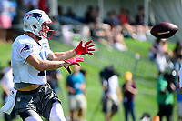 July 28, 2017: New England Patriots wide receiver Julian Edelman (11) makes a catch at the New England Patriots training camp held at Gillette Stadium, in Foxborough, Massachusetts. Eric Canha/CSM
