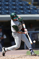 Fort Wayne TinCaps third baseman Hudson Potts (20) swings the bat against the West Michigan Michigan Whitecaps during the Midwest League baseball game on April 26, 2017 at Fifth Third Ballpark in Comstock Park, Michigan. West Michigan defeated Fort Wayne 8-2. (Andrew Woolley/Four Seam Images)