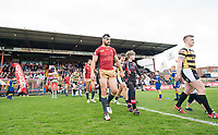 Picture by Allan McKenzie/SWpix.com - 22/04/2018 - Rugby League - Ladbrokes Challenge Cup - York City Knight v Catalans Dragons - Bootham Crescent, York, England - Catalans and York come out to play their Ladbrokes Challenge Cup tie at Bootham Crescent in York.