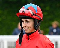 Jockey Kate Leahy during Horse Racing at Salisbury Racecourse on 14th August 2019
