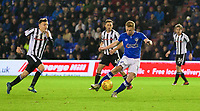Oldham Athletic's Eoin Doyle scores his side's second goal  during the Sky Bet League 1 match between Oldham Athletic and Rochdale at Boundary Park, Oldham, England on 18 November 2017. Photo by Juel Miah/PRiME Media Images