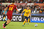 12th September 2017, Stadio Olimpic, Rome, Italy; UEFA Champions League between AS Roma versus Club Atletico de Madrid  Felipe Luis closed down by Manolas ; the game ended on a 0-0 draw