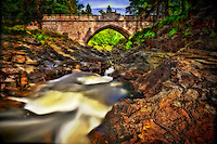 The Linn of Dee is near Braemar, on Royal Deeside,Scotland. The river Dee surges through a spectacular 300 metre long narrow rock gorge.<br />