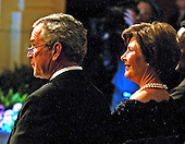 Washington, D.C. - February 6, 2006 -- United States President George W. Bush and first lady Laura Bush host a performance in the East Room of the White house honoring the Dance Theatre of Harlem and its Founder and Artistic Director, Arthur Mitchell,  in Washington, D.C. on February 6, 2006. <br /> Credit: Ron Sachs / CNP