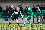 No 10  Killarney Celtic controls the ball against Boyle Celtic  during their FAI cup clash in Killarney on Saturday