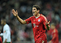 FUSSBALL   1. BUNDESLIGA  SAISON 2011/2012   15. Spieltag   03.12.2011 FC Bayern Muenchen - SV Werder Bremen        JUBEL Mario Gomez (FC Bayern Muenchen)