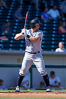 Surprise Saguaros designated hitter Kevin Padlo (24), of the Tampa Bay Rays organization, at bat during a game against the Mesa Solar Sox on October 20, 2017 at Sloan Park in Mesa, Arizona. The Solar Sox walked-off the Saguaros 7-6.  (Zachary Lucy/Four Seam Images)