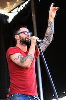 Maroon 5 performs at the infield on Preakness Day