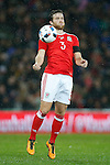 Adam Matthews of Wales during the international friendly match at the Cardiff City Stadium. Photo credit should read: Philip Oldham/Sportimage