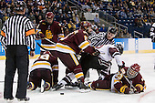 Wade Bergman (Duluth - 28), Kyle Schmidt (Duluth - 7), Travis Oleksuk (Duluth - 11), Kevin Sullivan (Union - 16), J.T. Brown (Duluth - 23) - The University of Minnesota-Duluth Bulldogs defeated the Union College Dutchmen 2-0 in their NCAA East Regional Semi-Final on Friday, March 25, 2011, at Webster Bank Arena at Harbor Yard in Bridgeport, Connecticut.