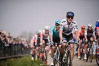 Matteo TRENTIN (ITA/Mitchelton-Scott) in the first passage up the Oude Kwaremont<br /> <br /> 103rd Ronde van Vlaanderen 2019<br /> One day race from Antwerp to Oudenaarde (BEL/270km)<br /> <br /> ©kramon