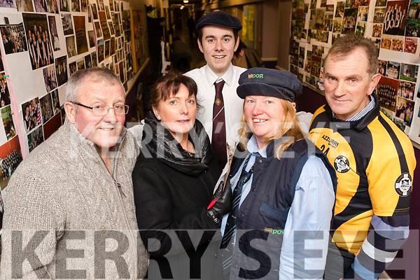Asdee Novelty act l-r: Jack Hennessy, Mairead Doyle, Anthony Hanlon, Kathleen Carmody and Gerard O'Carroll  at the Scor Sinsear county finals at Mhuire Gan Smal, Castleisland on Saturday night.