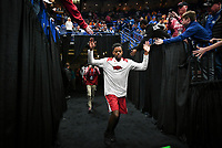 NWA Democrat-Gazette/CHARLIE KAIJO Arkansas Razorbacks guard Daryl Macon (4) runs out onto the court during the Southeastern Conference Men's Basketball Tournament semifinals, Saturday, March 10, 2018 at Scottrade Center in St. Louis, Mo. The Tennessee Volunteers knocked off the Arkansas Razorbacks 84-66