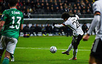 19th November 2019, Frankfurt, Germany; 2020 European Championships qualification, Germany versus Northern Ireland;  Serge Gnabry (Ger) scores his goal for 1-1