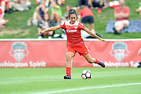 Boyds, MD - Saturday August 12, 2017: Caprice Dydasco during a regular season National Women's Soccer League (NWSL) match between the Washington Spirit and The Boston Breakers at Maureen Hendricks Field, Maryland SoccerPlex.