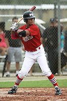 Jason Sierra, #22 of Sarasota High School, Florida playing for the Cardinals Scout Team during the WWBA World Champsionship 2012 at the Roger Dean Complex on October 25, 2012 in Jupiter, Florida. (Stacy Jo Grant/Four Seam Images)..
