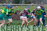 Patrice Diggin Kerry in action against Caoimhe McCrossan Westmeath in the 2019 Camogie League Division 2 at John Mitchells GAA grounds in Tralee, on Sunday.