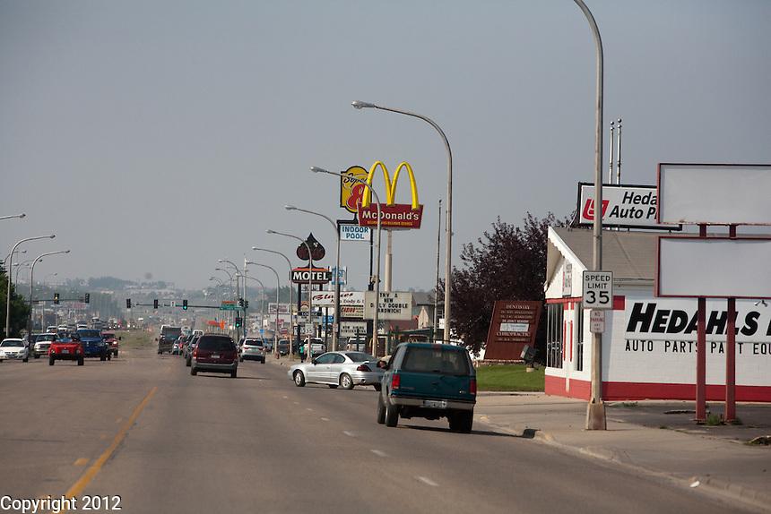 Downtown Williston, North Dakota